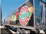 Our trucks carry certified produce to customers all over North America
